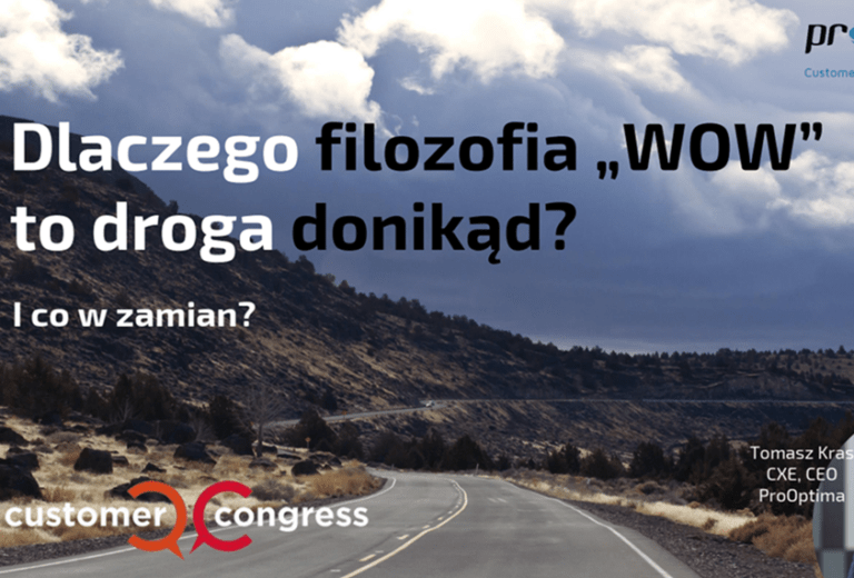 Co zamiast WOW - prezentacja CEM ProOptima z Customer Congress 16.10.2018 v5