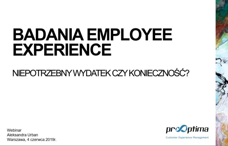 Badania Employee Experience