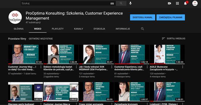 Webinary ProOptima na You Tube