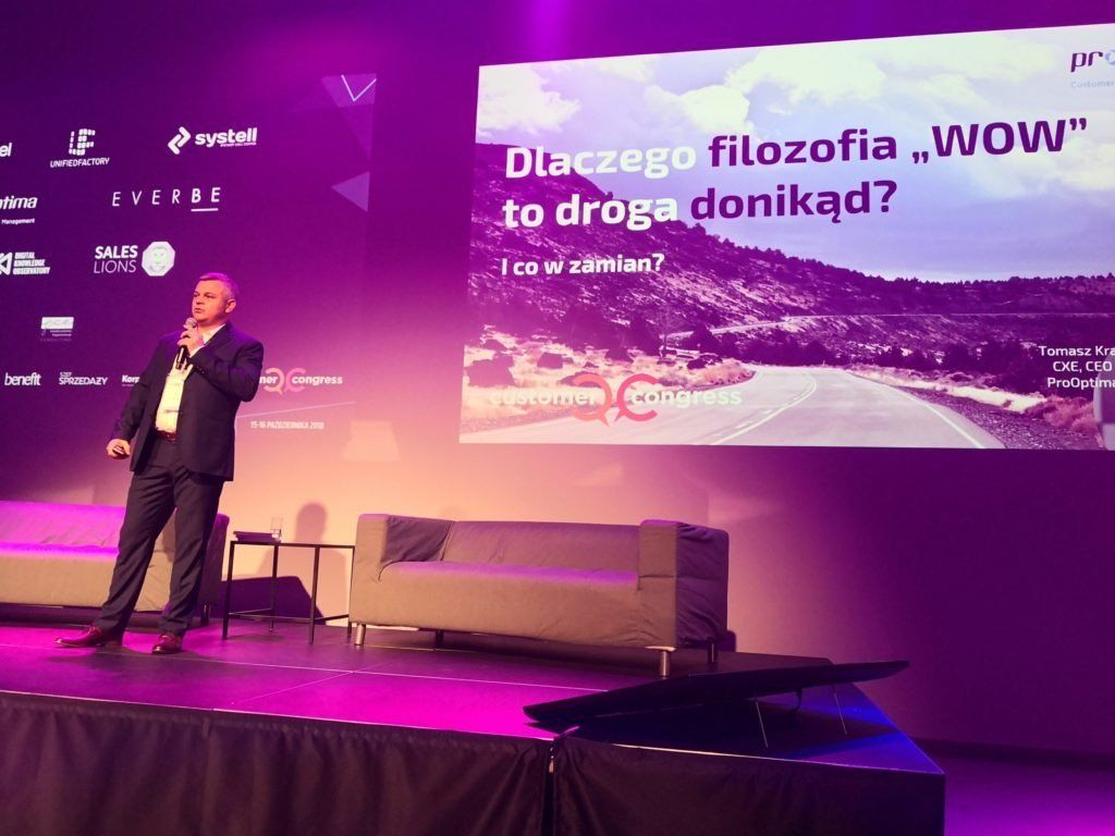 Tomasz Kras na konferencji Customer Congress