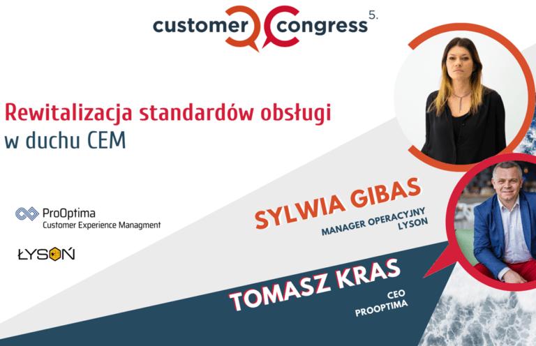 Rewitalizacja standardów obsługi w duchu CEM - Customer Congress